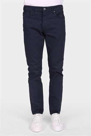 Lacivert Dar Paça Slim Fit Erkek Denim Pantolon